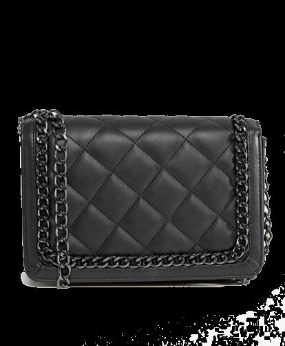 ASOS Diamond Quilt Cross Body Bag With Chunky Chain Handle
