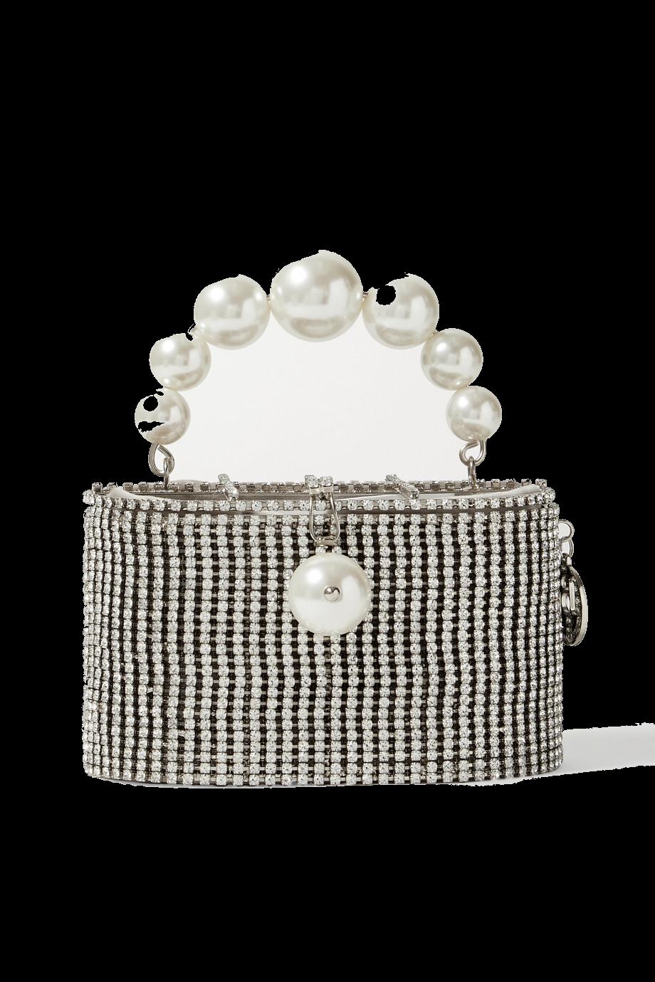 Super Holli embellished silver-tone tote