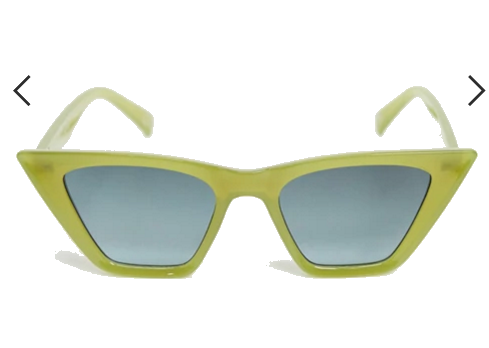 ASOS DESIGN square cat eye sunglasses with bevel detail in olive