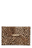 Leopard Envelope Clutch Bag