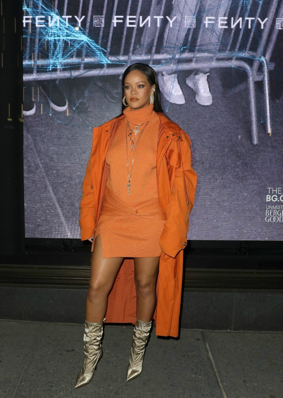 Rihanna in orange