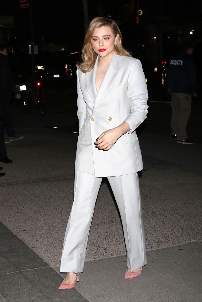 Chloe Grace Moretz in suit