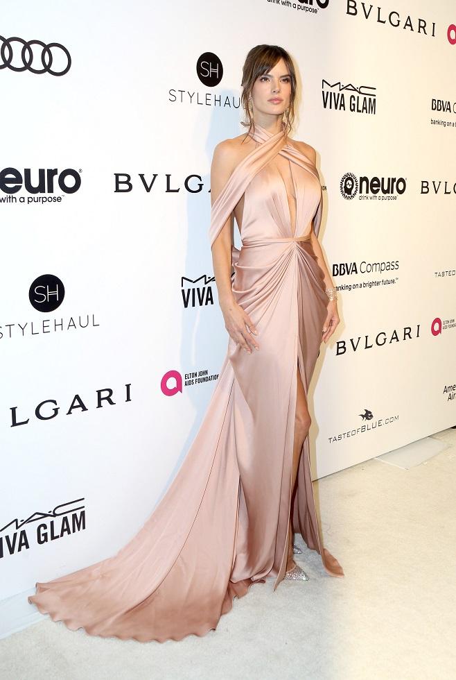 Alessandra Ambrosio in romantic dress