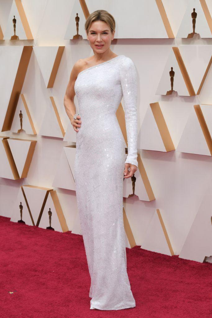 Renee Zellweger in white dress
