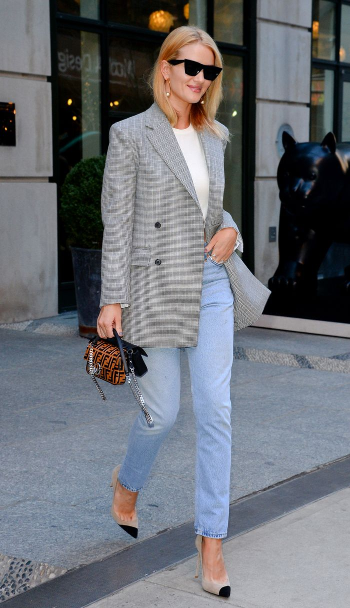 Checked Blazer On Rosie