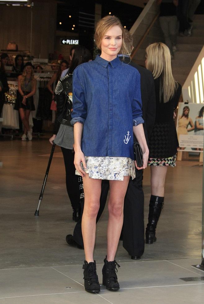 Kate Bosworth in denim shirt
