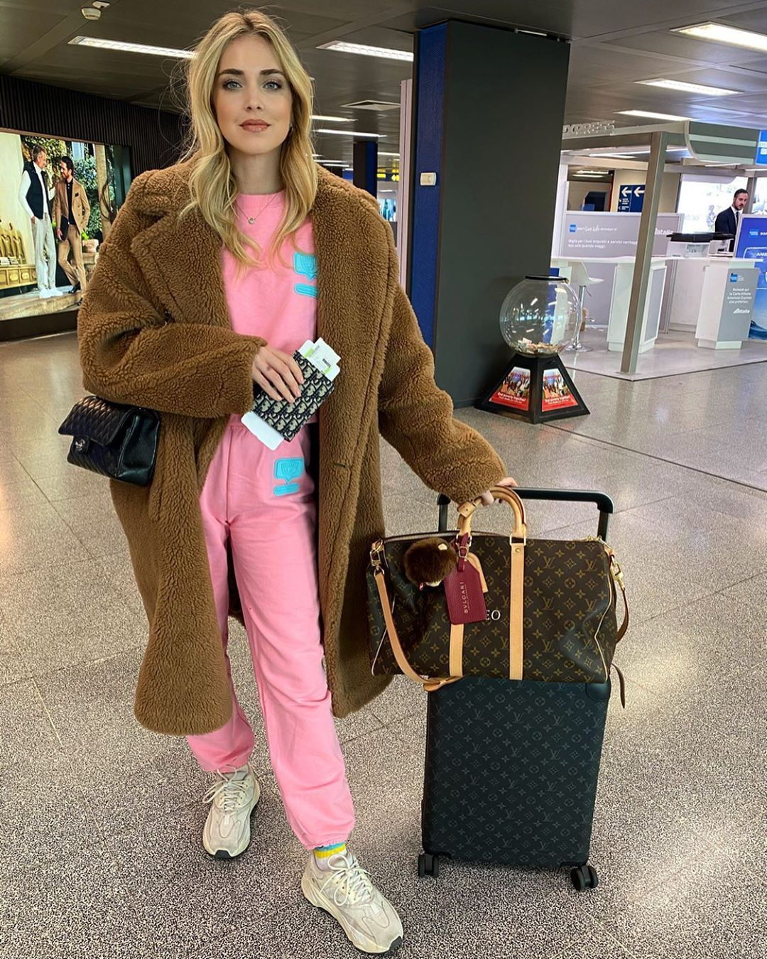 Chiara Ferragni on airport