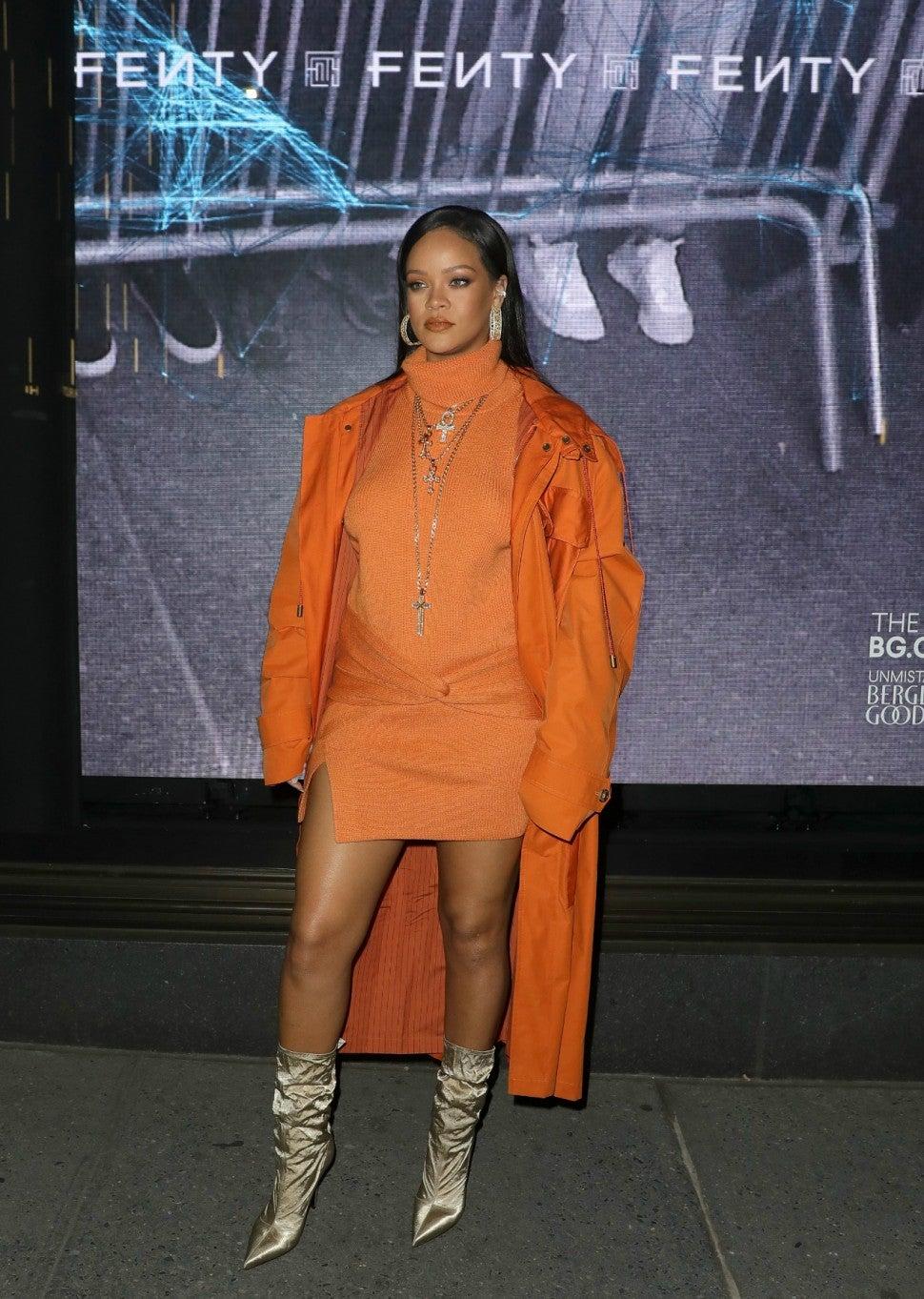 Rihanna Attends Fenty