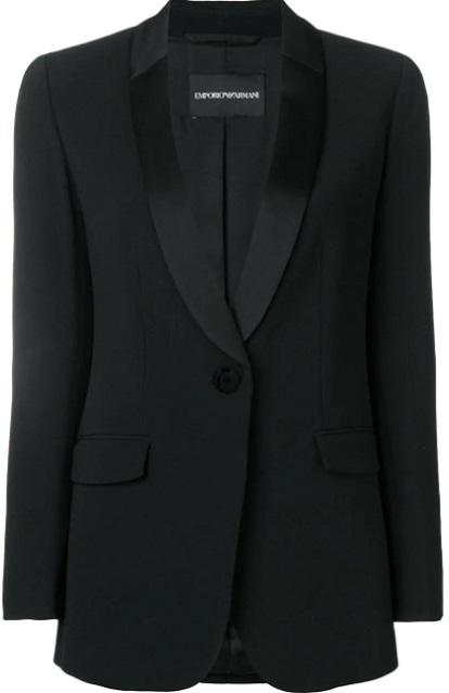 EMPORIO ARMANI contemporary tuxedo jacket