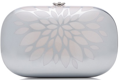Click Product to Zoom Jeffrey Levinson Elina Mirrored Aluminum Clutch