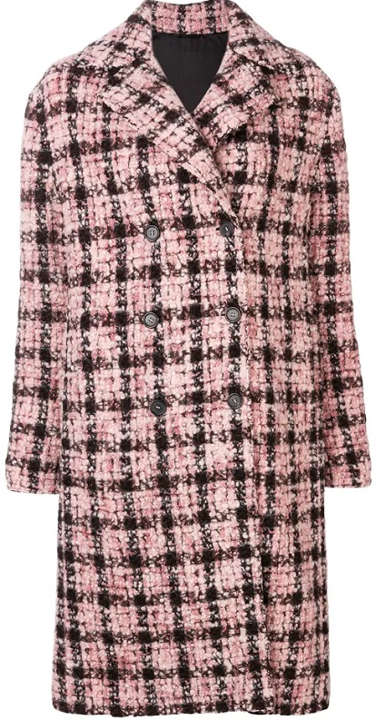 ERMANNO SCERVINO double breasted check coat