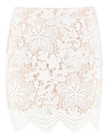 Premium Lace Contrast Mini Skirt