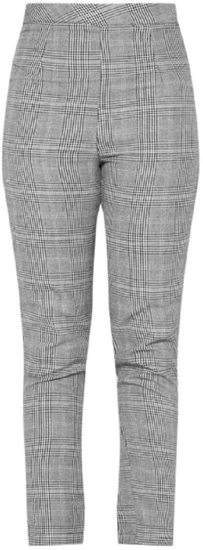 TALL GREY CHECKED PANTS