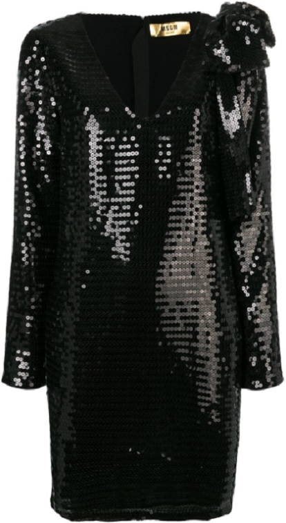 MSGM sequin embellished dress