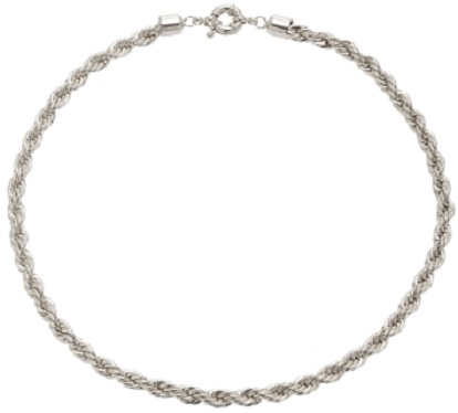 Click Product to Zoom Fallon Twisted Rhodium Rope Necklace