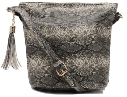 All Over Faux Snake Bucket Bag