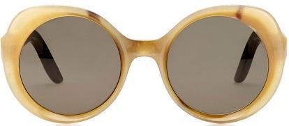 Click Product to Zoom Lapima Carlota Oversized Round-Frame Horn Sunglasses