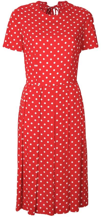 COMME DES GARÇONS VINTAGE polka dots pleated dress