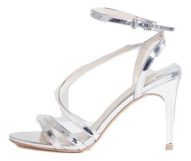 Faith Delly Silver Heeled Sandals