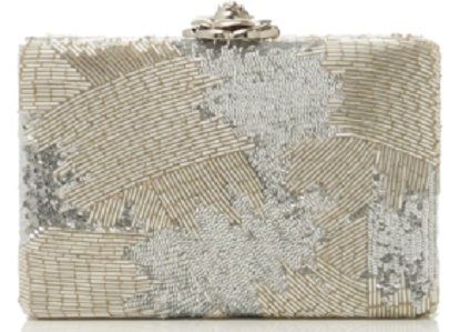 Click Product to Zoom Oscar De La Renta Beaded Satin Clutch