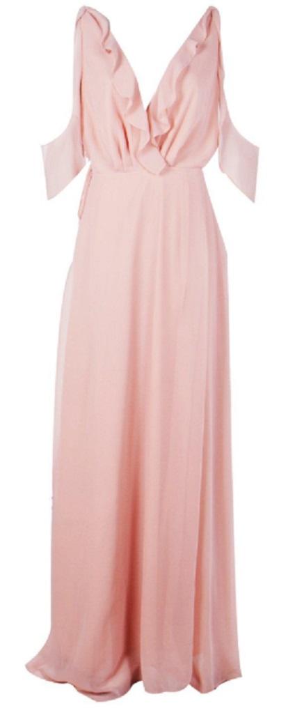 Boutique Chiffon Frill Wrap Maxi Dress