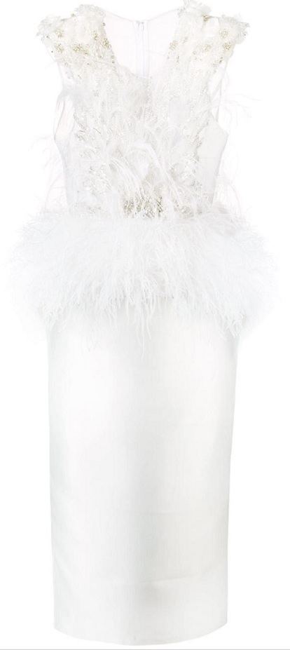 LOULOU feather Love embellished dress