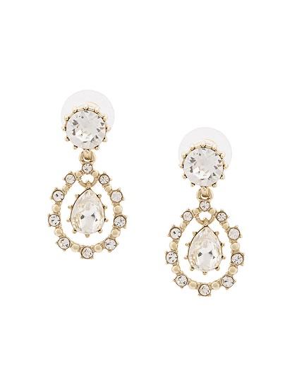MARCHESA NOTTE gemstone drop earrings
