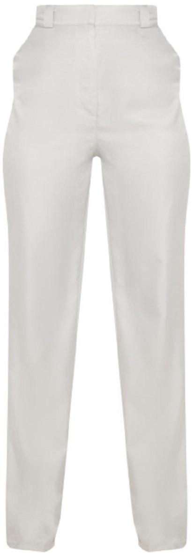 LIGHT GREY STRAIGHT LEG WOVEN PANTS