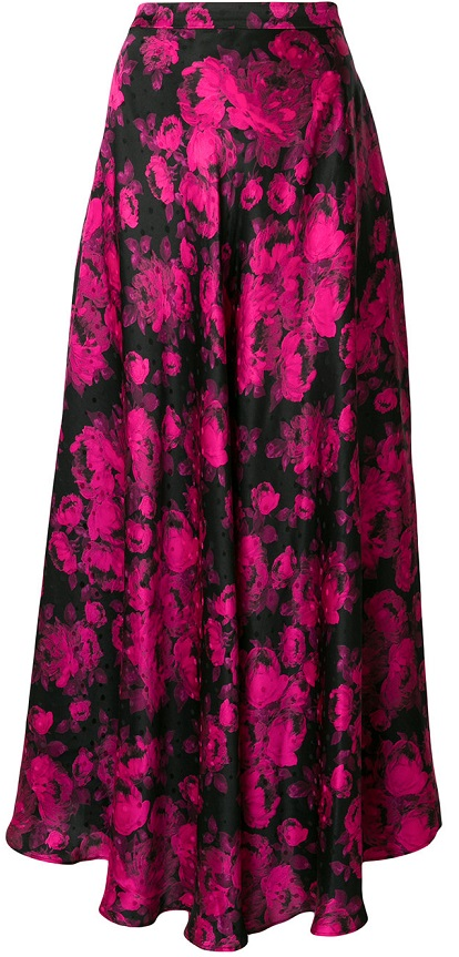 STELLA MCCARTNEY flared patterned maxi skirt