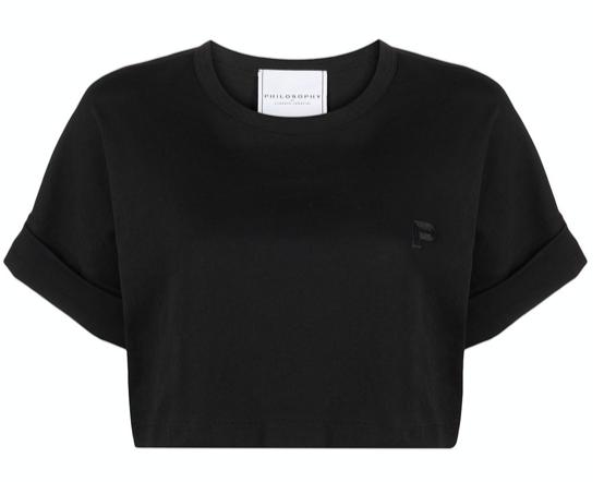 Philosophy Di Lorenzo Serafini cropped logo T-shirt