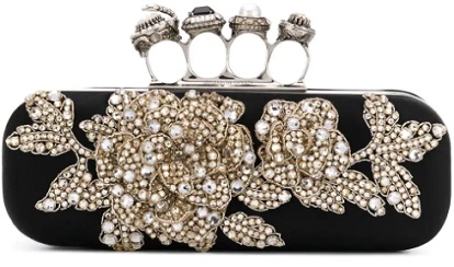 ALEXANDER MCQUEEN embroidered knuckleduster clutch