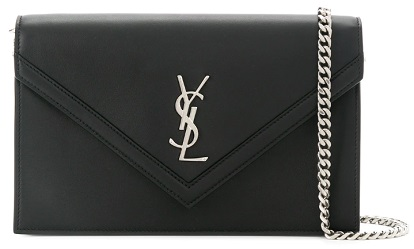 SAINT LAURENT envelope pointed flap clutch