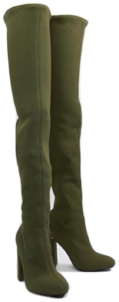 ASOS DESIGN Koko knitted thigh high boots