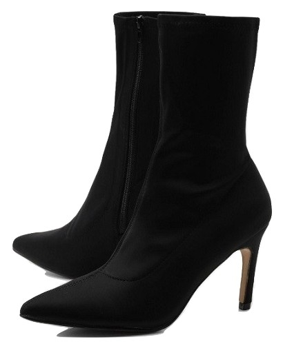 Stretch Low Heel Pointed Sock Boots