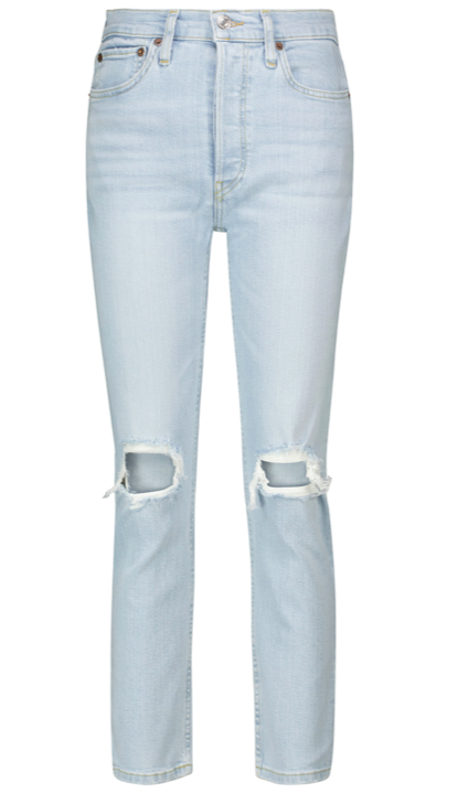 90s high-rise cropped jeans