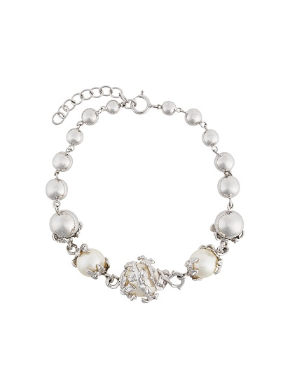 KASUN LONDON orb & 3 pearls bracelet