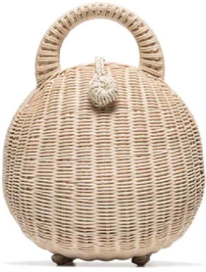 CULT GAIA Millie Rattan Bag