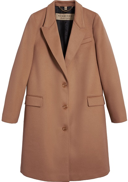BURBERRY tailored single-breasted coat