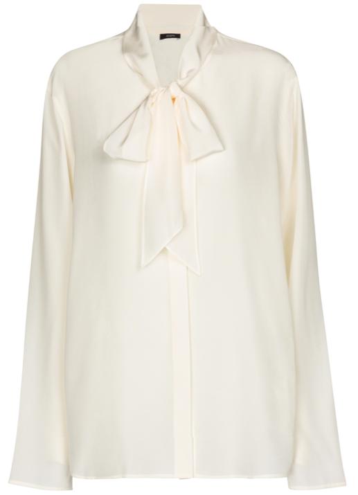 Branca silk crêpe blouse