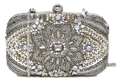 True Decadence All Over Embellished Box Clutch Bag