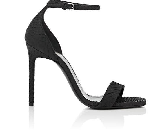 SAINT LAURENT Amber Python Sandals