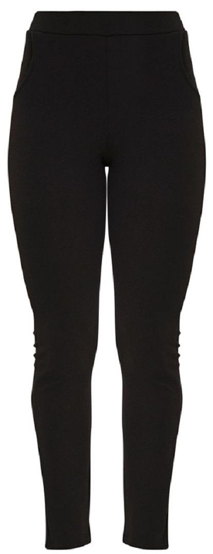 SAGE BLACK CREPE SKINNY PANTS