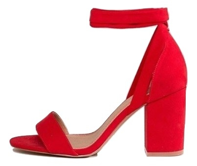 ASOS DESIGN Howling Wide Fit Tie Leg Heeled Sandals