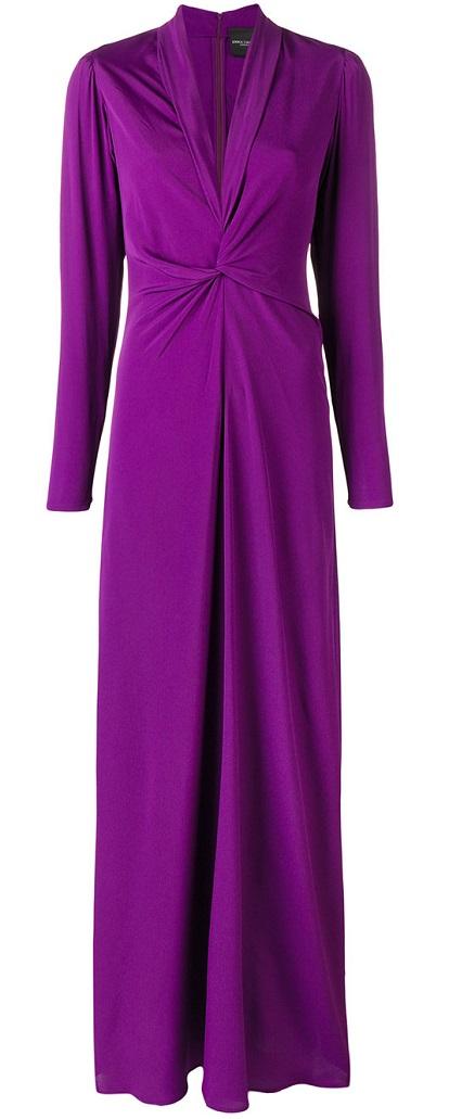 ERIKA CAVALLINI twist-front gown