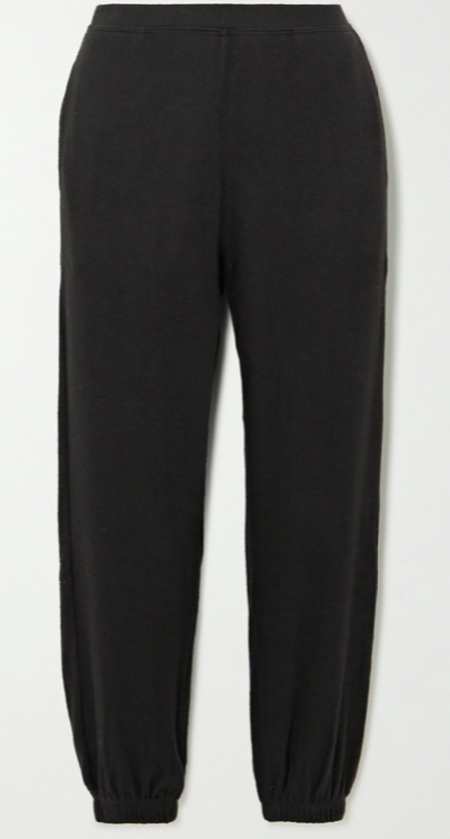 Lori brushed stretch-jersey track pants