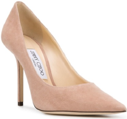 JIMMY CHOO ballet pink Love 100 pumps