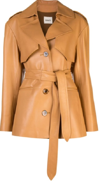 KHAITE belted trench coat