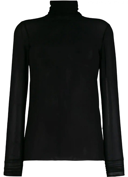 NUDE turtle neck blouse
