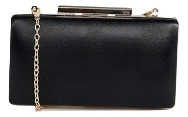 True Decadance Black Square Box Clutch Bag