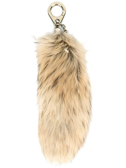 MONCLER raccoon fur bag charm